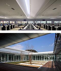 トップライトや大きな窓で自然光を採取