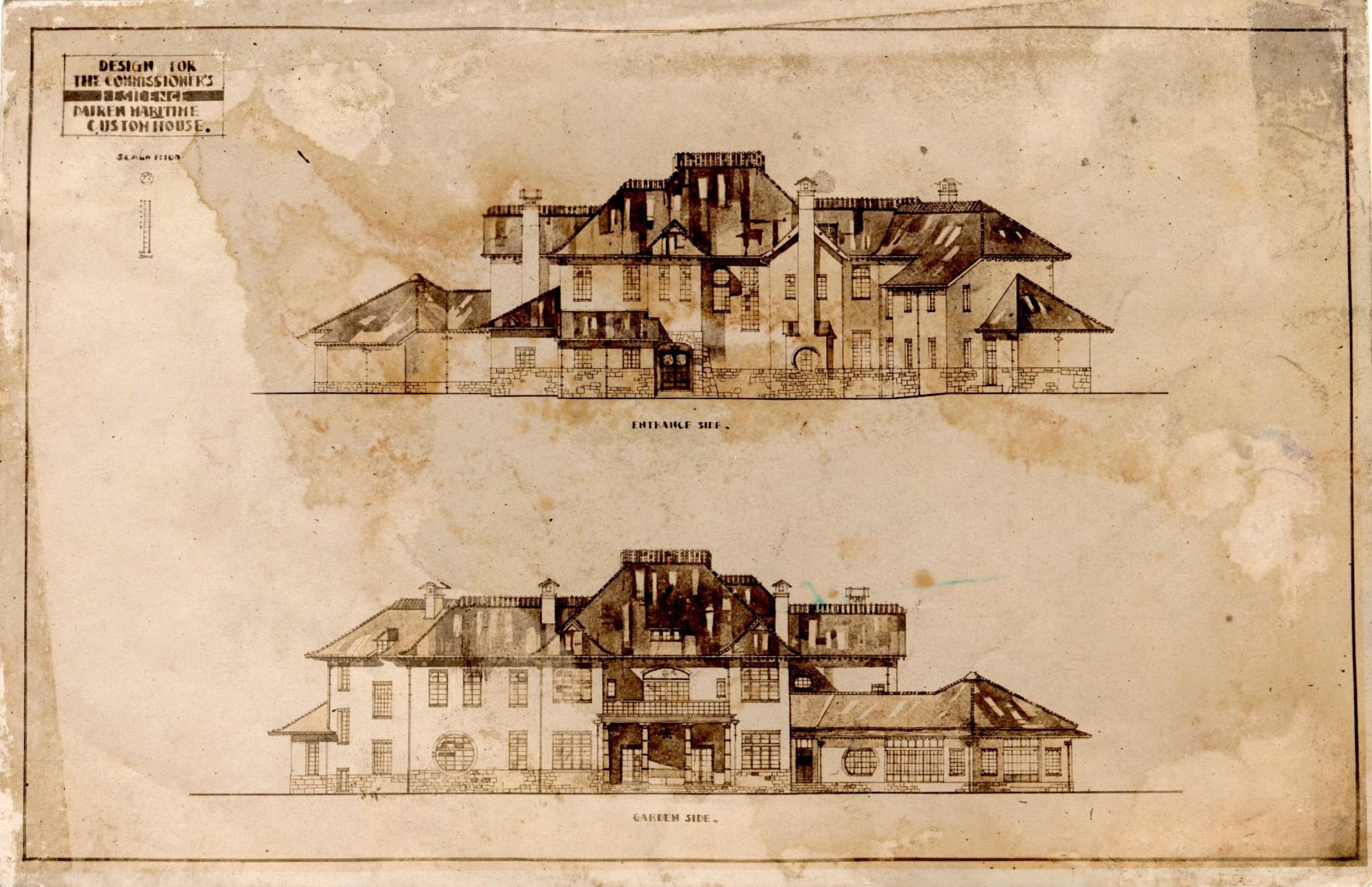 Sketch of Dalian Customs House