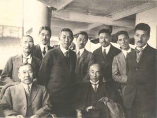 Yasushi Kataoka on the left, Tatsuzo Sone on the right, and Takeo Yasui in the center