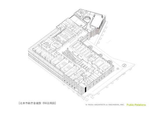 北本新庁舎建設 BIM活用図