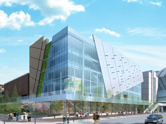 外観パース~建物意匠と環境性能のインテグレート