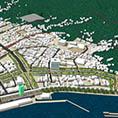 3次元電子地図データーを活用した震災復興計画案