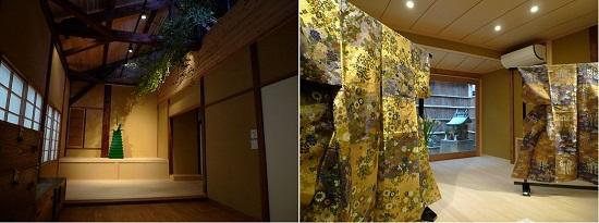 (左:2階ライブラリー。奥には式台が設けられている。右:1階楽屋・稽古場)