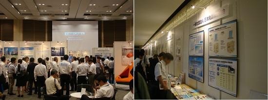 展示会場はじめ資料掲示コーナーも、震災対策に興味のあるたくさんの来場者であふれていました