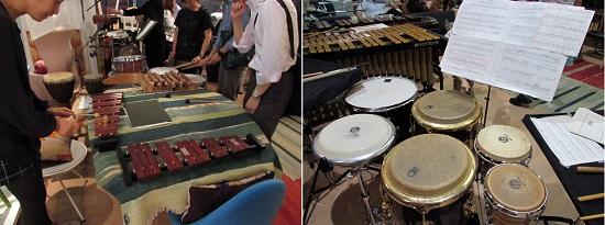 演奏後に楽器や楽譜を眺めることができるのも平河町ミュージックスの楽しみ。