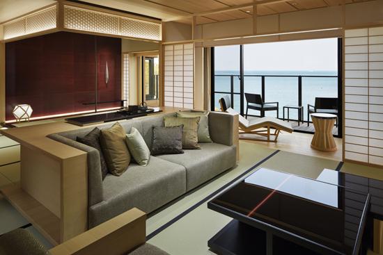 日本の伝統美を現代的にアレンジした客室(座敷)